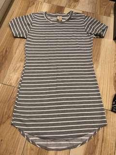 Grey Stripe Dress