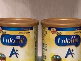 🚚 美強生 優生A+育嬰配方奶粉 兩罐