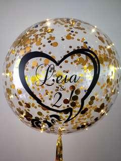 Confetti helium balloons