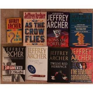 8 Jeffrey Archer books