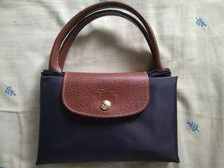 Longchamp bag dark grey