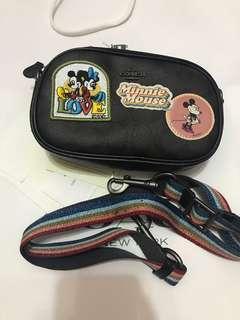 Ready stock coach x Disney Mickey Mouse crossbody bag
