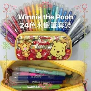 Winnie the Pooh 24色旋轉筆桿水蠟筆