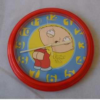 Stewie Hanging Wall Clock Family Guy