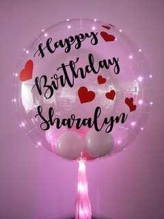 Customisable helium balloons Valentine's day