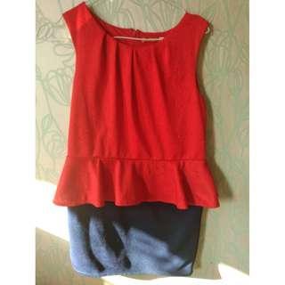 Red-blue dress
