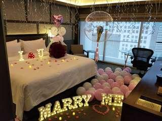 Will you marry me wedding proposal balloon surprises