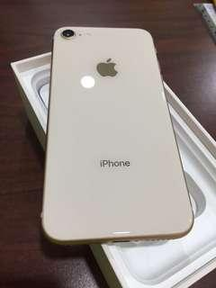 iPhone 8 gold 256gb (used)