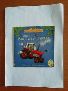 Usborne Farmyard Tales. The Runaway Tractor children's book. Written by Heather Amery & Stephen Cartwright.
