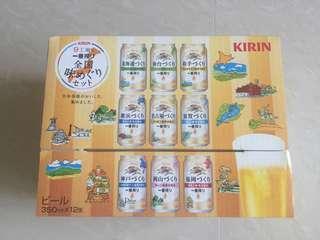 Collectors Item Kirin Beer from Different Factories in Japan