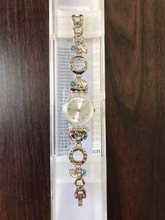 Swatch Menthol Tone Women's Watch Silver-Brand New In Box