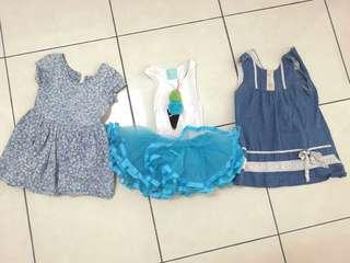 3 dress for RM 30 (age 2 - 4)