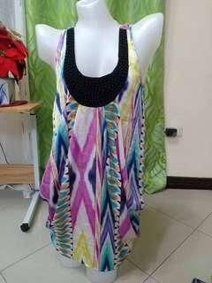 Printed Dress With pocket