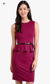 Peplum dress (berry)