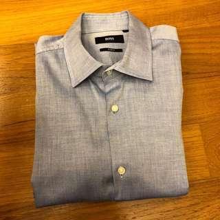 [REDUCED] Hugo Boss Men Long Sleeve Shirt (Size 15.5)