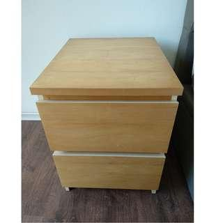 IKEA Chest of 2 Drawers Bedside Table MALM