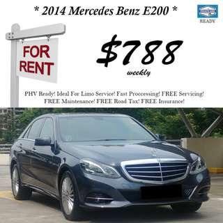 2014 Mercedes E200 For Rent