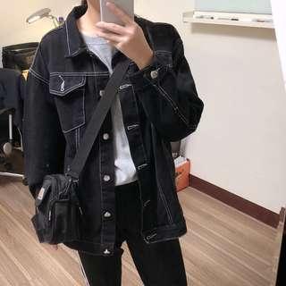 🚚 黑色牛仔外套