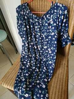 Flexi Blue Dress - open shoulder or cover up