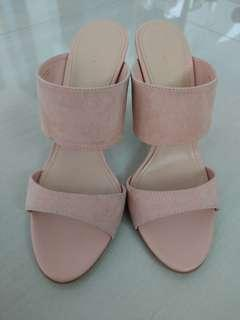 Charles and Keith 3 inch high Pink heels