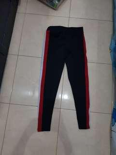 Legging stripes merah putih