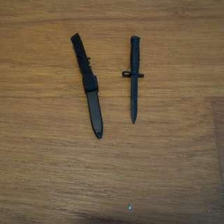 1/6 scale toy knife weapon with shear