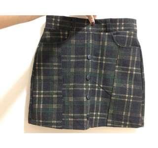 🚚 韓系格紋裙 A字裙 短裙 全新標籤還在