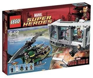 LEGO 76007 Super Heroes Iron Man Malibu Mansion Attack (brand new but no minifigure)