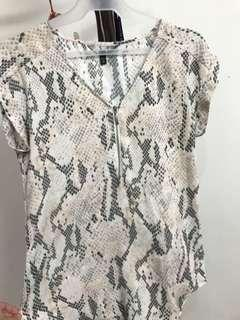 Overrun Snake Blush Pink Blouse fits S