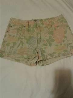 Dotti Floral Print Denim Shorts