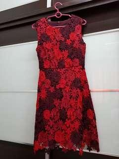 New Look Premium Red Lace Dress #cnyred