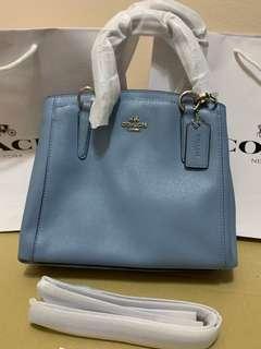 Ready Stock coach minetta crossgrain leather totes handbag