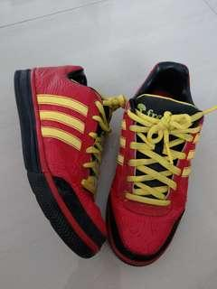 Adidas limited edition red and yellow sneakers