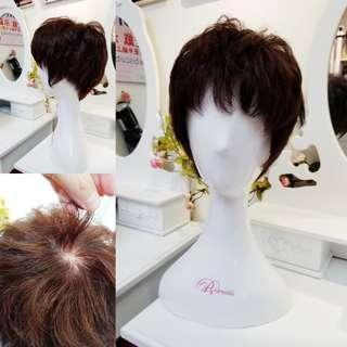 Biscuits專業設計 手織真髮 仿真頭頂 任撥髮界 假髮 荔枝角假髮店 歡迎問價
