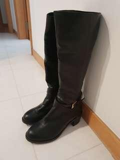 Black boots from Japan