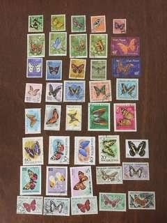 外國郵票—專題5-蝴蝶