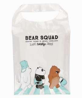 We Bare Bears Plastic Tote