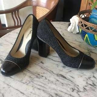 Clarks block heels