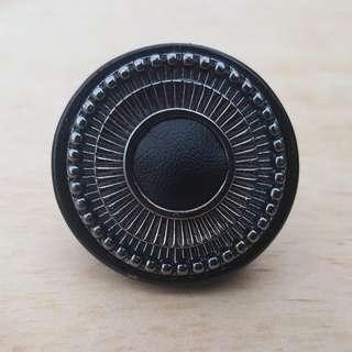 Gunmetal Statement Ring
