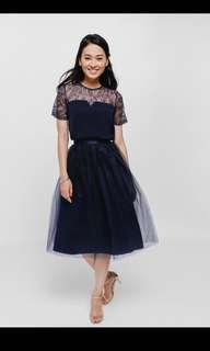 Petrine Layered Tulle Midi Skirt