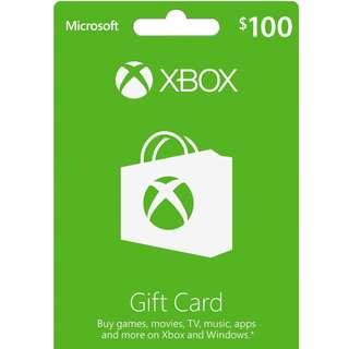 Brand New Xbox Gift card - SGD$100 (Sealed)