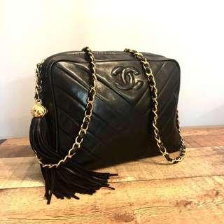 RESERVED Authentic Chanel Lambskin Camera Bag with 24k Gold Hardware