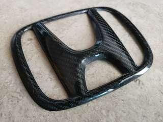 Carbon Fiber Honda Emblem
