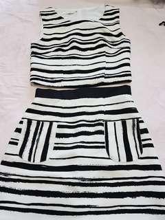 Set of Crop top & matching skirt