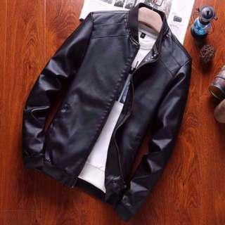 (INSTOCKS) Men's Leather Jacket