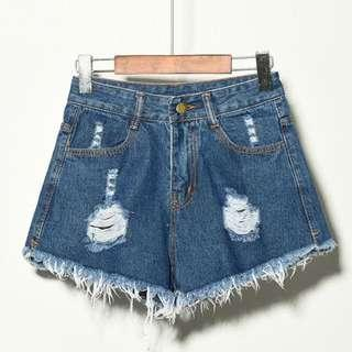 BNWT Ripped Distressed Denim Shorts