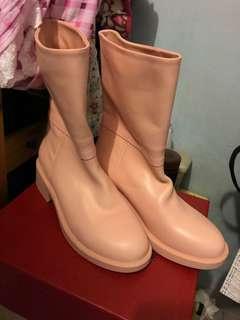 粉紅色真皮中boot