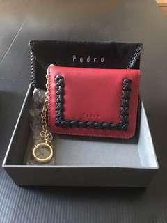 Pedro Genuine Red Leather Cardholder- New
