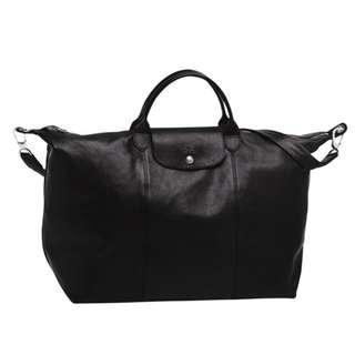 Longchamp 經典大號手袋 LE PLIAGE LEDER  , SIZE L 國外旅遊帶回全新品,台灣原售價23700  雙北歡迎面交看包