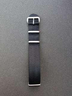 Veblenist 20mm black nylon nato strap
